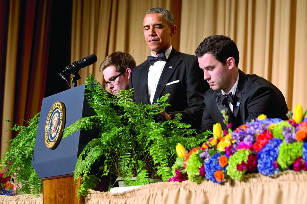President Barack Obama speaking during the White House Correspondents' Association (WHCA) Dinner. (AP Photo/Jacquelyn Martin)