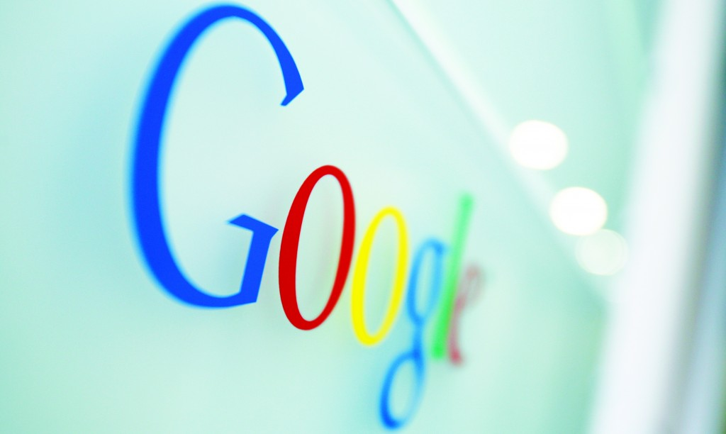 The Google logo at the Google headquarters in Brussels.  (AP Photo/Virginia Mayo, File)