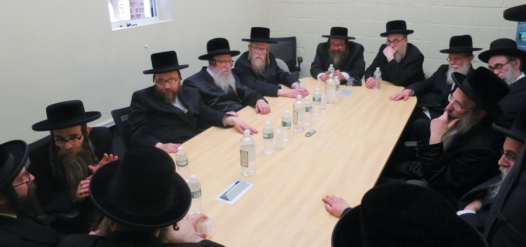 At a meeting Tuesday by Boro Park Rabbanim, where the decision to hold a technology asifah was made.