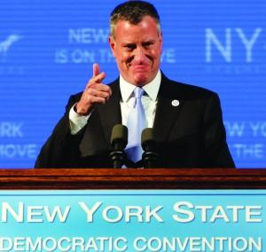 Mayor Bill de Blasio nominates Gov. Cuomo for re-election.