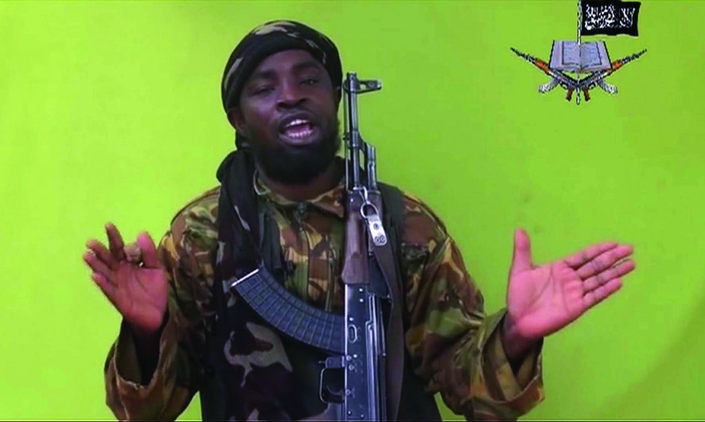 In this photo taken from video by Nigeria's Boko Haram terrorist network, Monday, their leader Abubakar Shekau is seen speaking to the camera.  (AP Photo)
