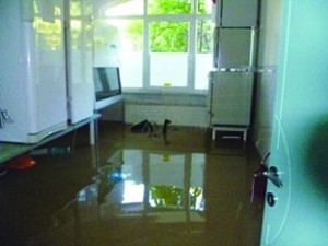 Flooded home of Jewish family in Banja Luka, Bosnia.
