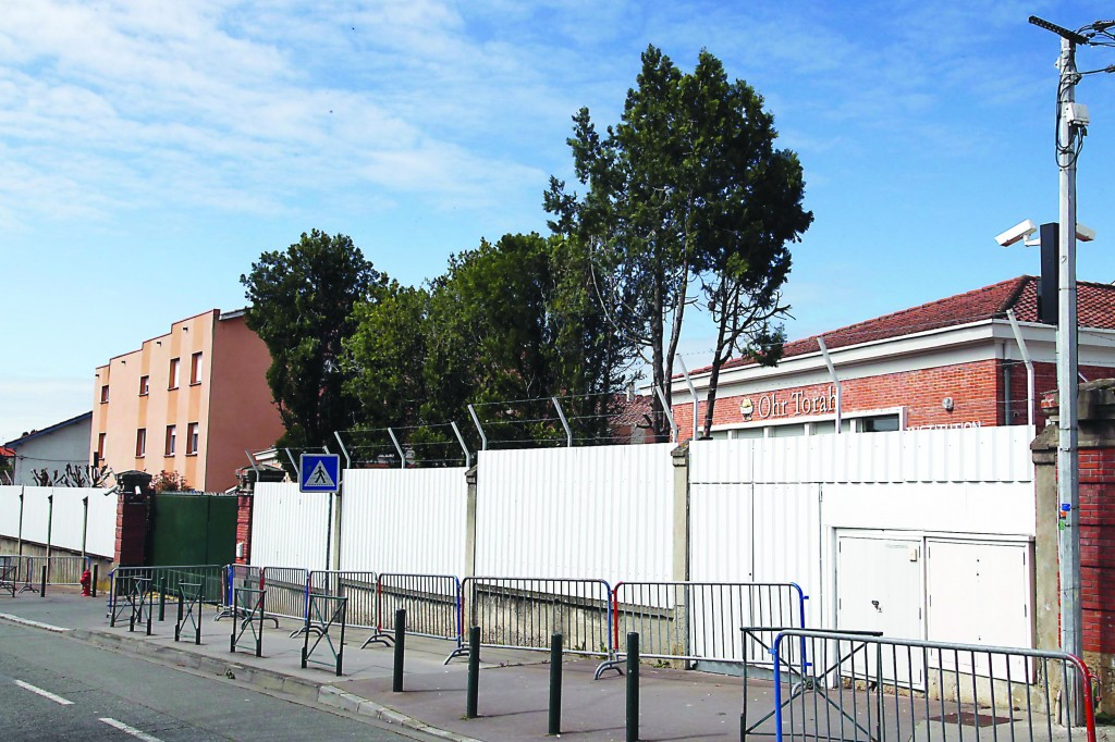 A view of the Jewish school Ohr Torah, in the French city of Toulouse, the scene of a terrorist attack in 2012. (Gideon Markowicz/FLASH90)