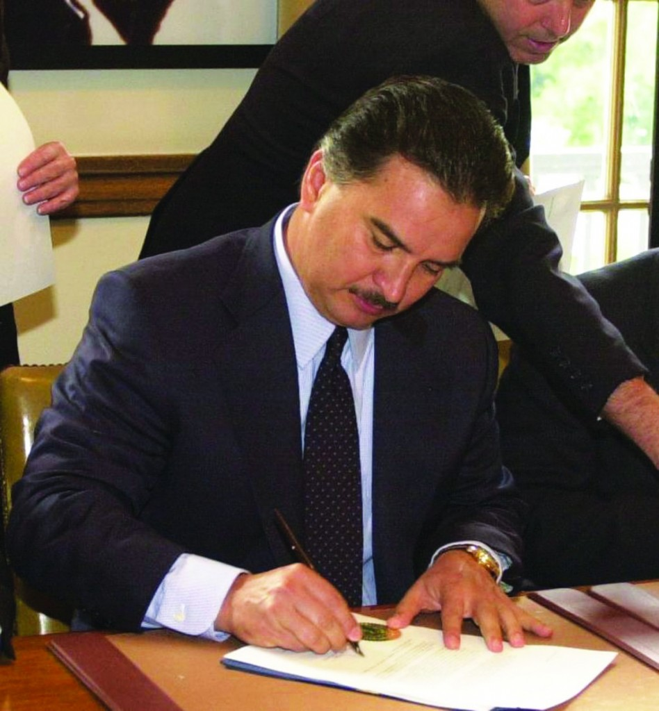 Ex- Guatemalan President Alfonso Portillo shortly after he took office in 2001.