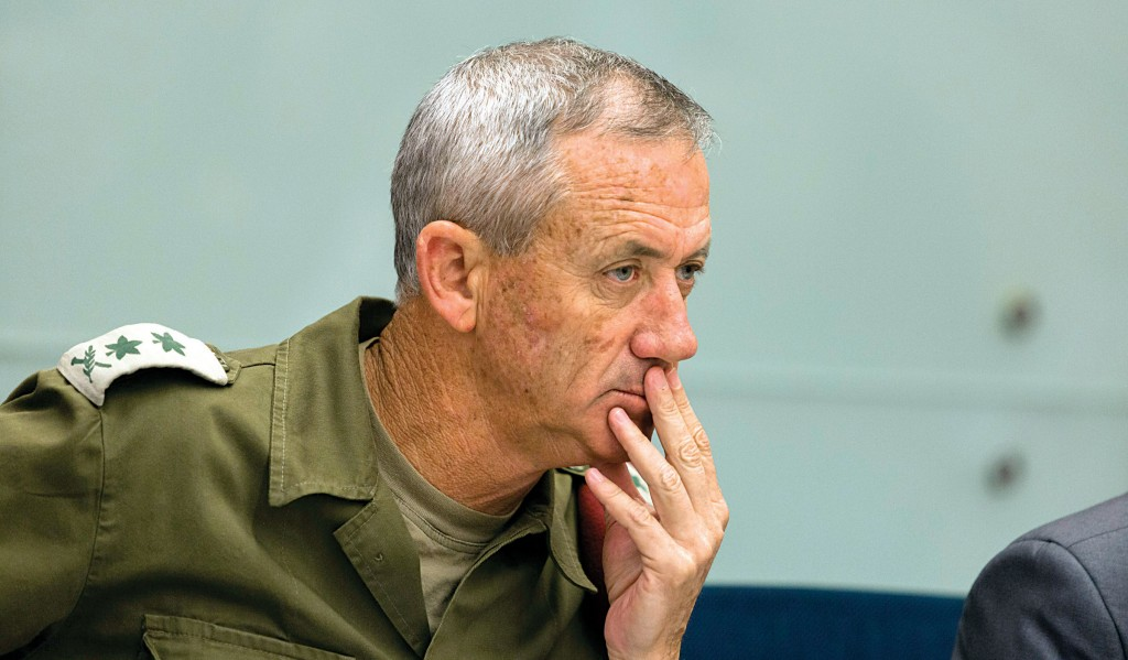 IDF Chief of Staff Benny Gantz attends a Knesset Foreign Affairs and Defense committee meeting on Tuesday. (Flash 90 )