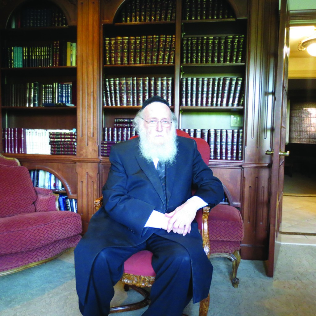 Harav Simcha HaKohen Kook, shlita, the Chief Rabbi of Rechovot, is here to advocate on behalf of continued Jewish control over Kivrei Melachim on Har Tzion.