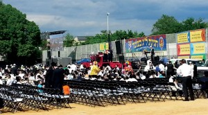 Lag BaOmer parade on Sunday organized by Gan Yisroel in the 18th Ave. park. (Ferry Pilchick)