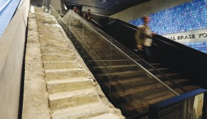 """The """"Survivor Stairs,"""" left, are displayed."""