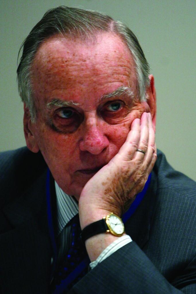 Zalman Shoval, former Israeli ambassador to the U.S. is skeptical of a Hammas technocracy. (Miriam Alster/FLASh90)