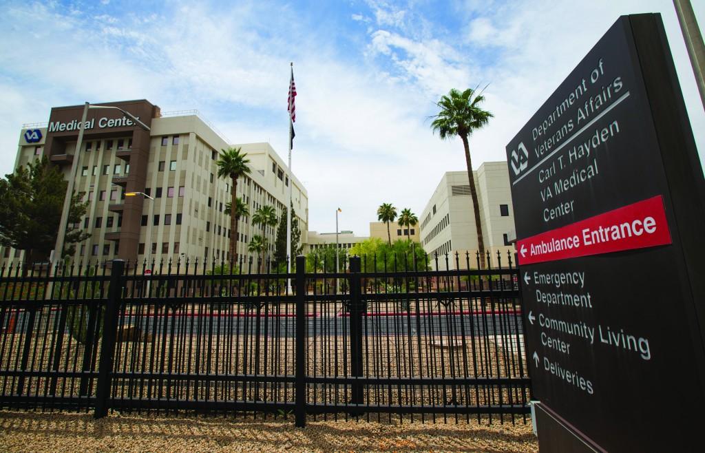 The Carl T. Hayden VA Medical Center in Phoenix is seen Wednesday. (AP Photo/The Arizona Republic, Michael Chow )