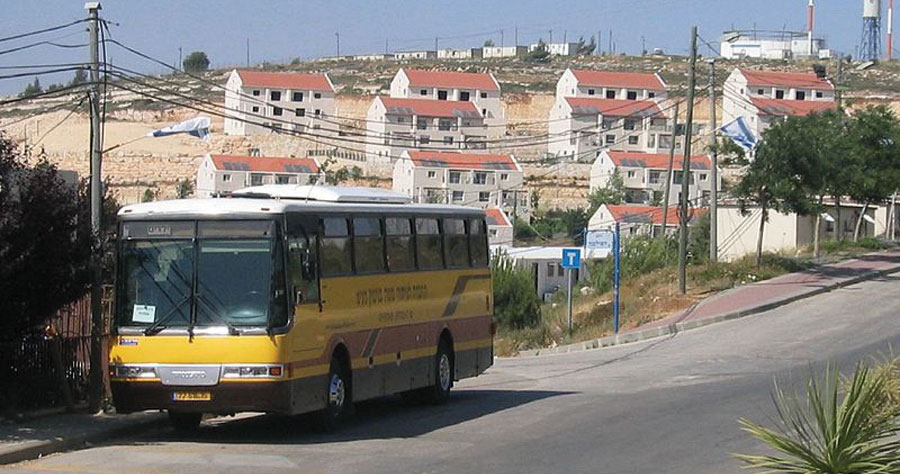 A street in Beit El, in the Binyamin region.