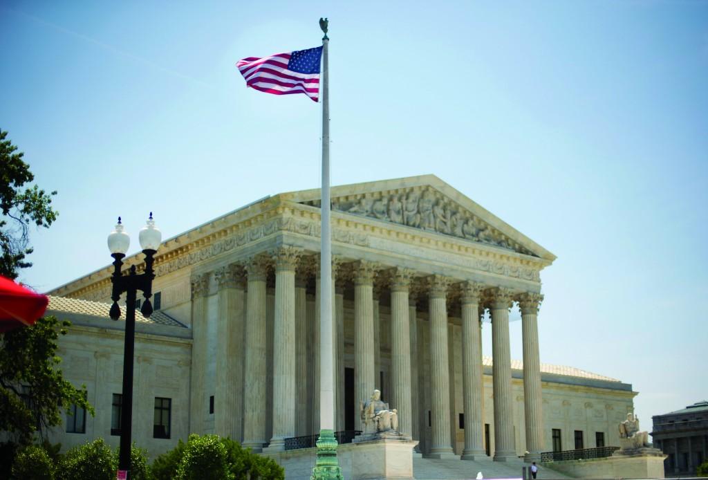 The Supreme Court building in Washington, Monday. (AP Photo/Pablo Martinez Monsivais)