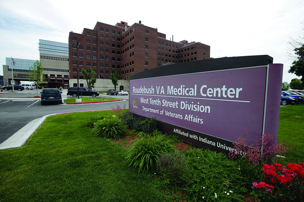 The Richard L. Roudebush Veterans Administration Medical Center is seen Monday, in Indianapolis. (AP Photo/Darron Cummings)