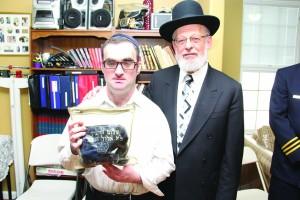 Mr. Yaakov Grunfeld with Mr. Shalom Hurwitz.