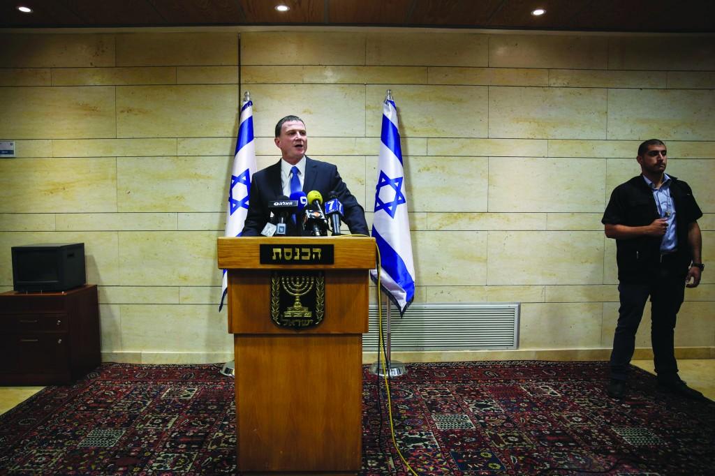 Speaker of the Knesset, Yuli Edelstein.  (Hadas Parush/Flash 90)