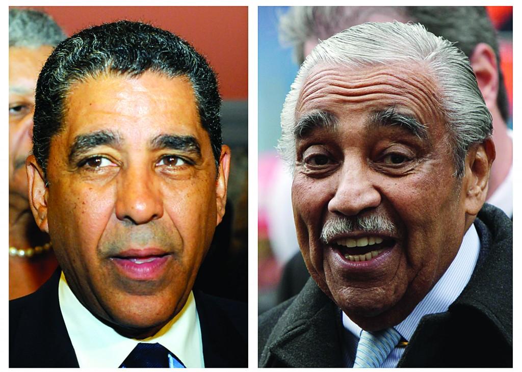 State Sen. Adriano Espaillat (L) and Rep. Charles Rangel. (AP Photos)
