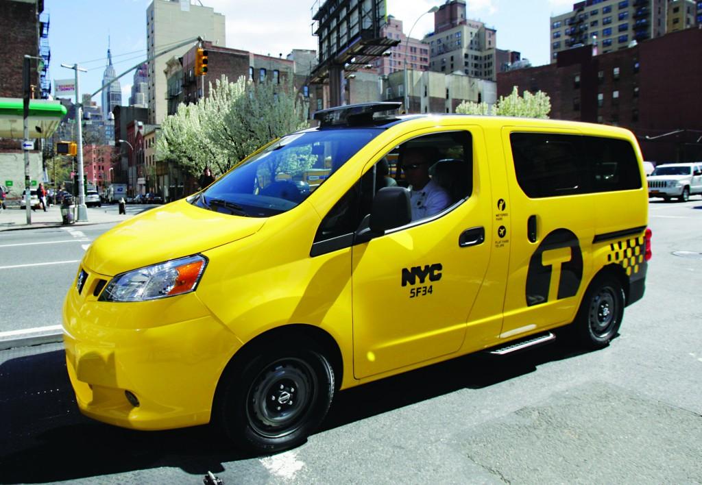 The Nissan NV 200 New York City taxi. (AP Photo/Richard Drew )