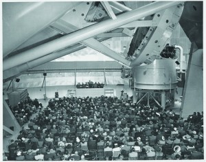 """The dedication of the 200"""" telescope, naming it for the late George Ellery Hale, on June 3, 1948."""