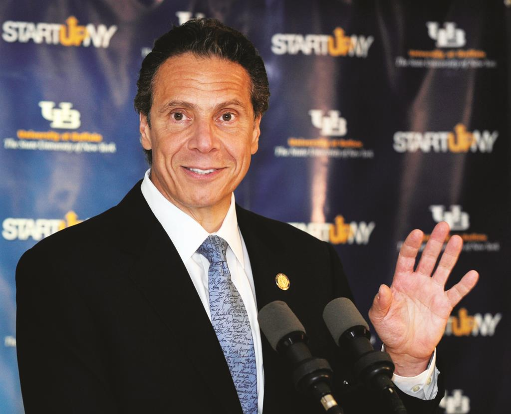 Governor Andrew Cuomo on Monday during a press conference at the University of Buffalo.