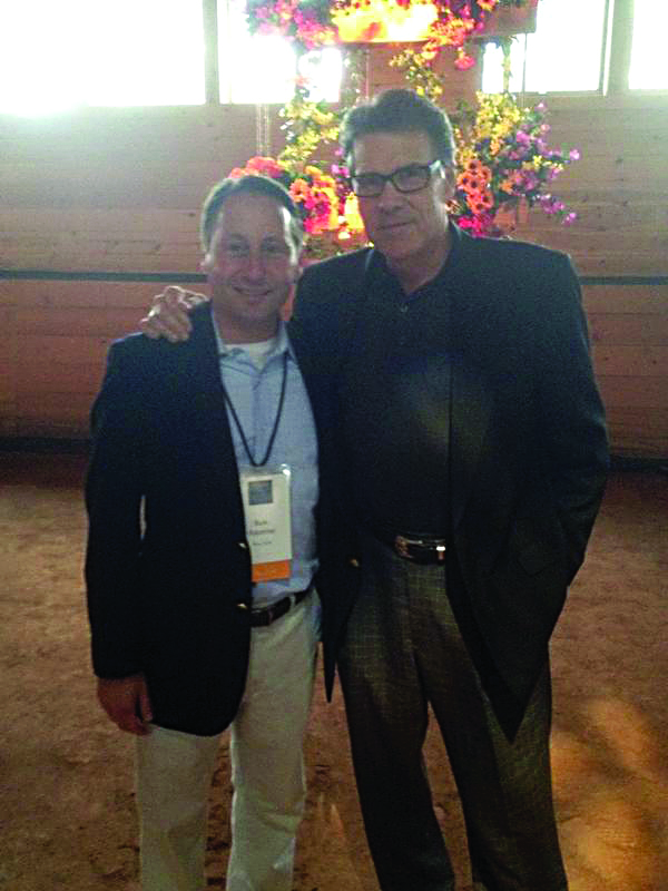 Texas Gov. Rick Perry (R) with Rob Astorino on Thursday.