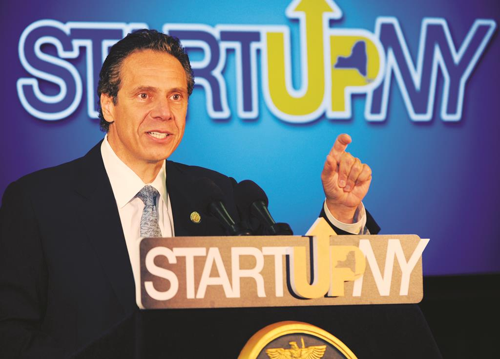 Gov. Andrew Cuomo on Monday during a press conference at the University of Buffalo. (AP Photo/Gary Wiepert)