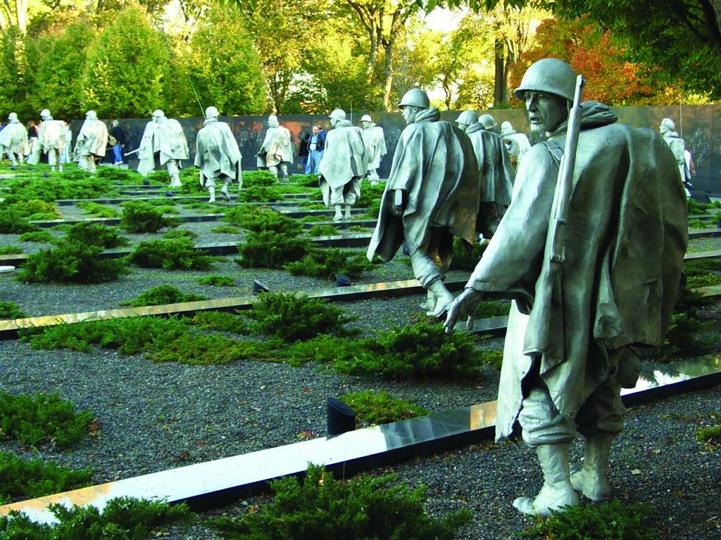 The Korean War Veterans Memorial in Washington D.C.