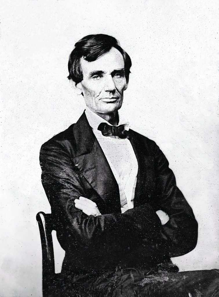 "The last beardless photo of President Abraham Lincoln, taken Aug. 13, 1860, several months before 11-year-old Grace Bedell suggested in a letter he ""wear whiskers."" (Library of Congress)"
