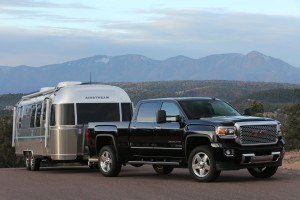 Putting the heavy in heavy duty, this tow-friendly monster, the 2014 GMC Sierra Denali 2500HD, rounded out our trio. A 6.0-liter, V-8 turbodiesel churns out 397 horsepower, and 765 pound-feet of torque can tow up to 13,000 pounds. It's bolted to a six-speed Allison automatic transmission. (GMC/MCT)