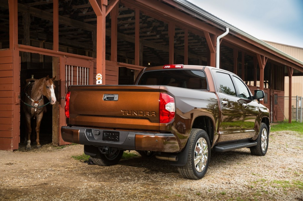 It's odd that the least-expensive truck of this trio is also the one representing the luxury truck market. But Toyota's Tundra 1794 is actually a bit of a bargain. (David Dewhurst/Toyota/MCT)