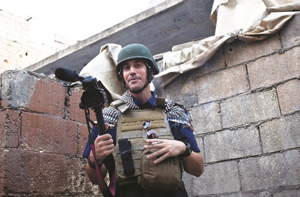 A November 2012, file photo, posted on the website freejamesfoley.org, shows American journalist James Foley while covering the civil war in Aleppo, Syria. (AP Photo/freejamesfoley.org, Nicole Tung, File)