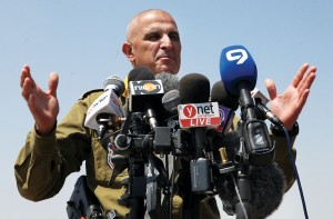Commander of the Southern Command, Maj. Gen. Sami Turgeman, speaks during a press conference on the security situation for residents near Gaza. (Gideon Markowicz/Flash90)
