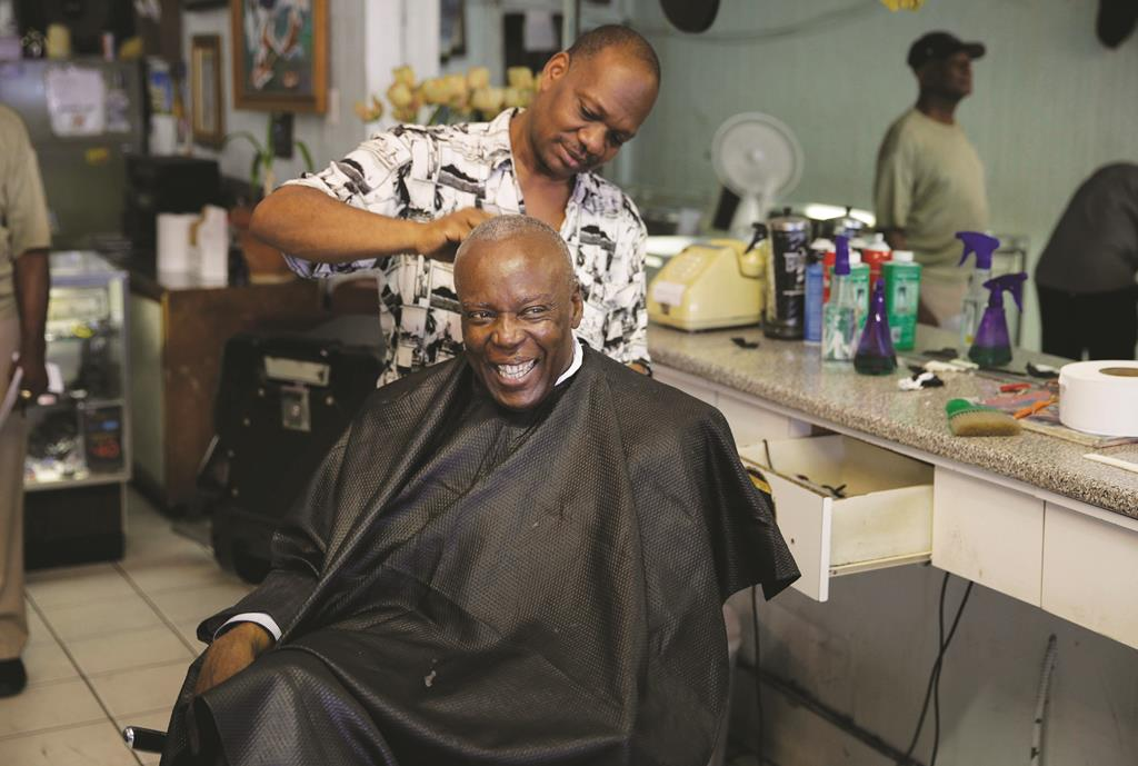 Spring Valley Mayor Demeza Delhomme on Tuesday gets a haircut soon after being released from jail. (AP Photo/Seth Wenig)