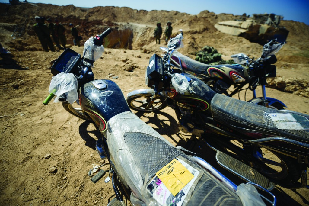 The motorcycles that Israel supplied.