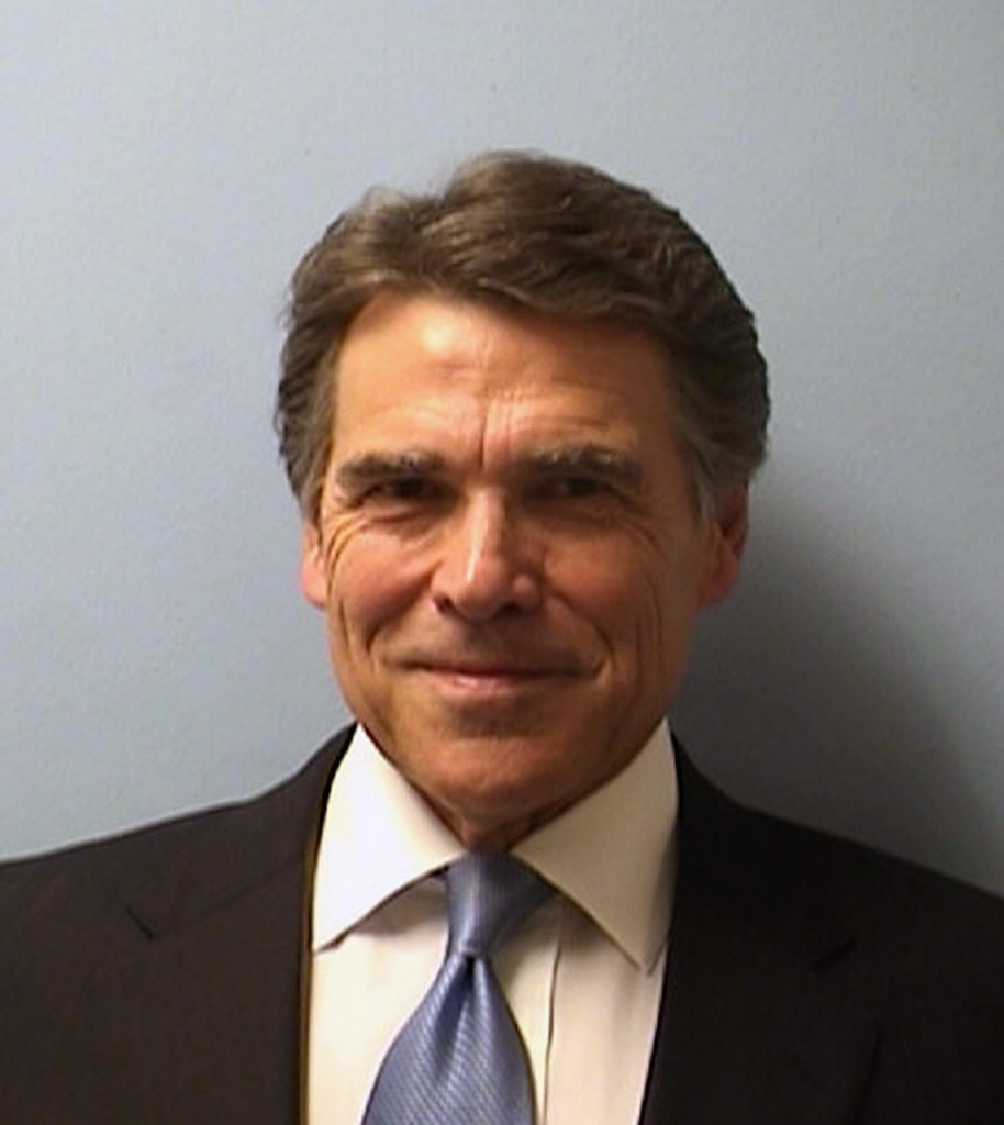 Texas Gov. Rick Perry's mug shot. (AP Photo/Austin Police)