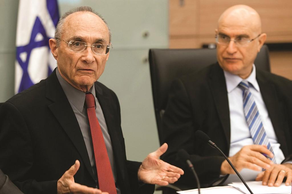 Israel's Minister of Tourism Uzi Landau (L). (Marc Israel Sellem/POOL/FLASH90)