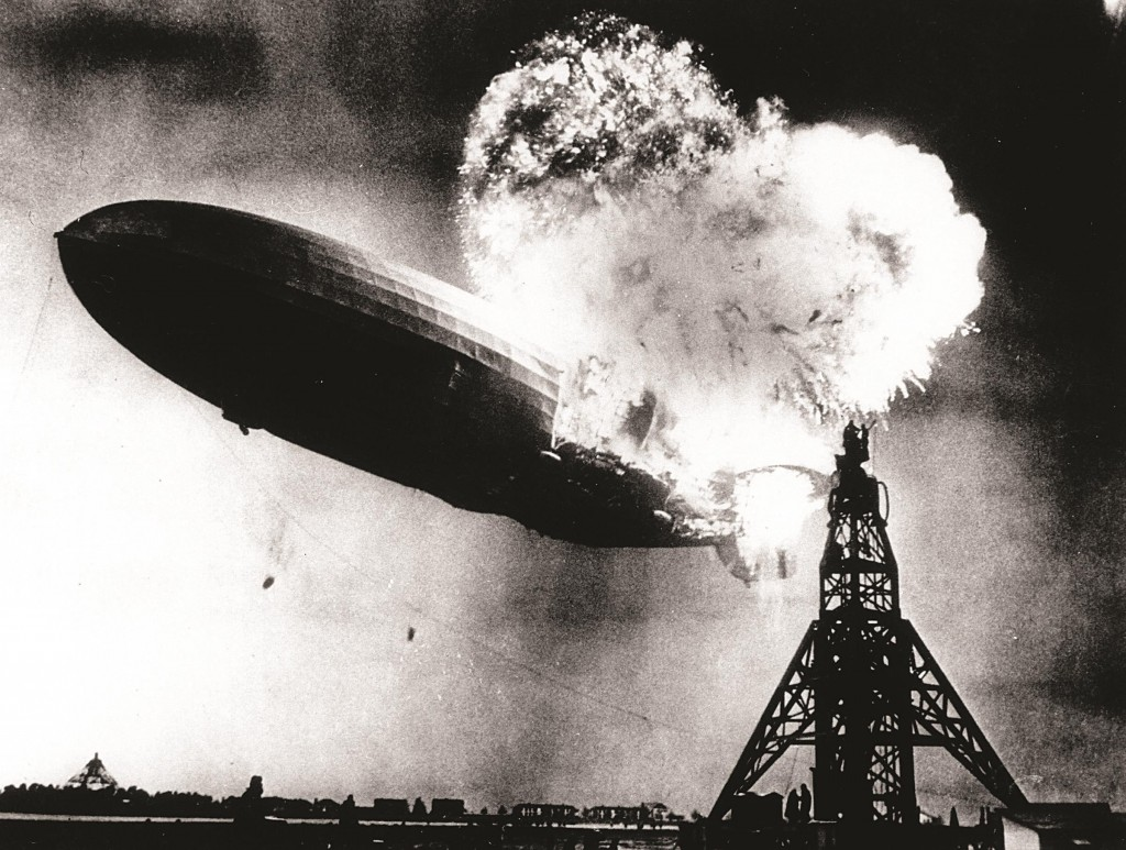 The split second that the Hindenburg exploded on May 6, 1937. (AP Photo)