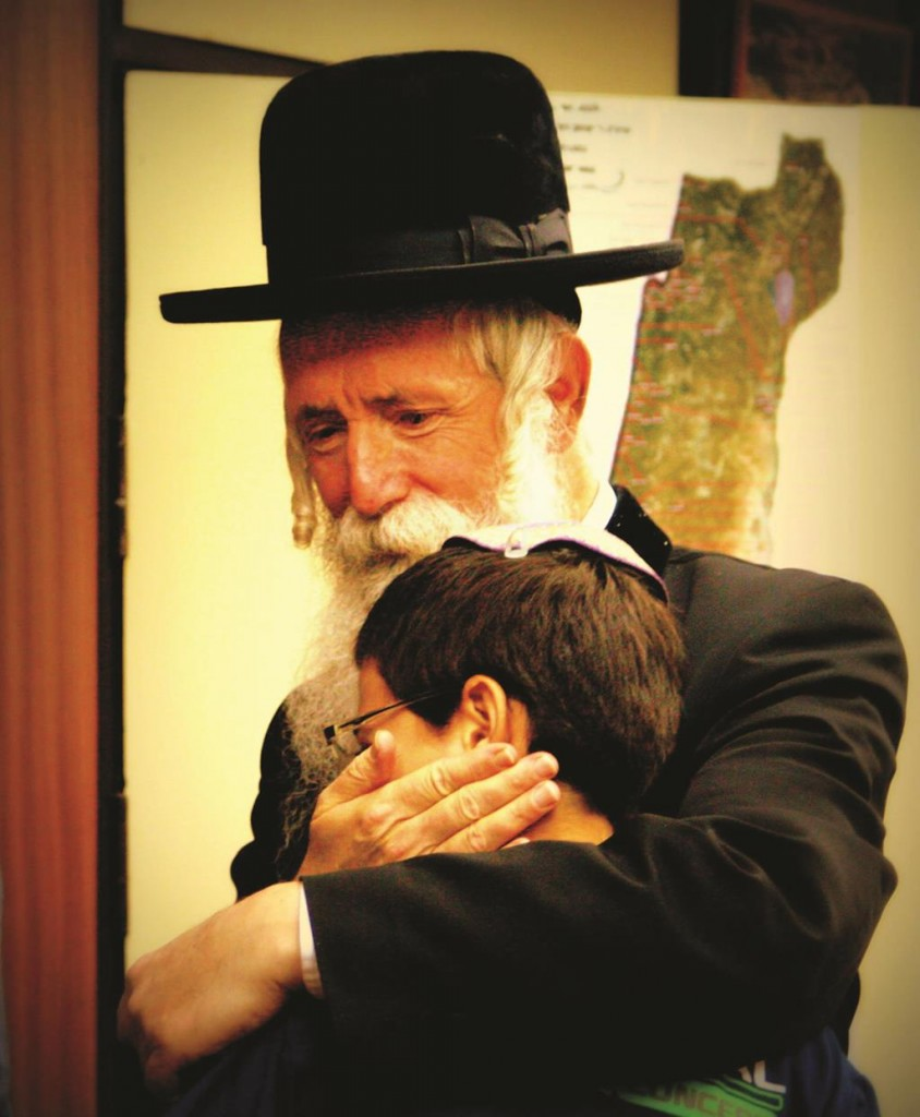 """Harav Grossman with Gilad Shaar, Hy""""d, in a picture taken right before Gilad's bar mitzvah. The only bar mitzvah gift Gilad asked of his parents was to get a brachah from the Rav."""