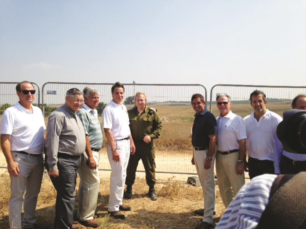 Inspecting an Iron Dome battery with IDF Lt. Col. Peter Lerner.