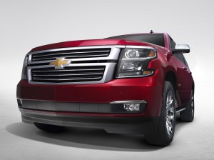 Front grille view of the 2015 Chevrolet Tahoe in Crystal Claret. (Chevrolet/MCT)