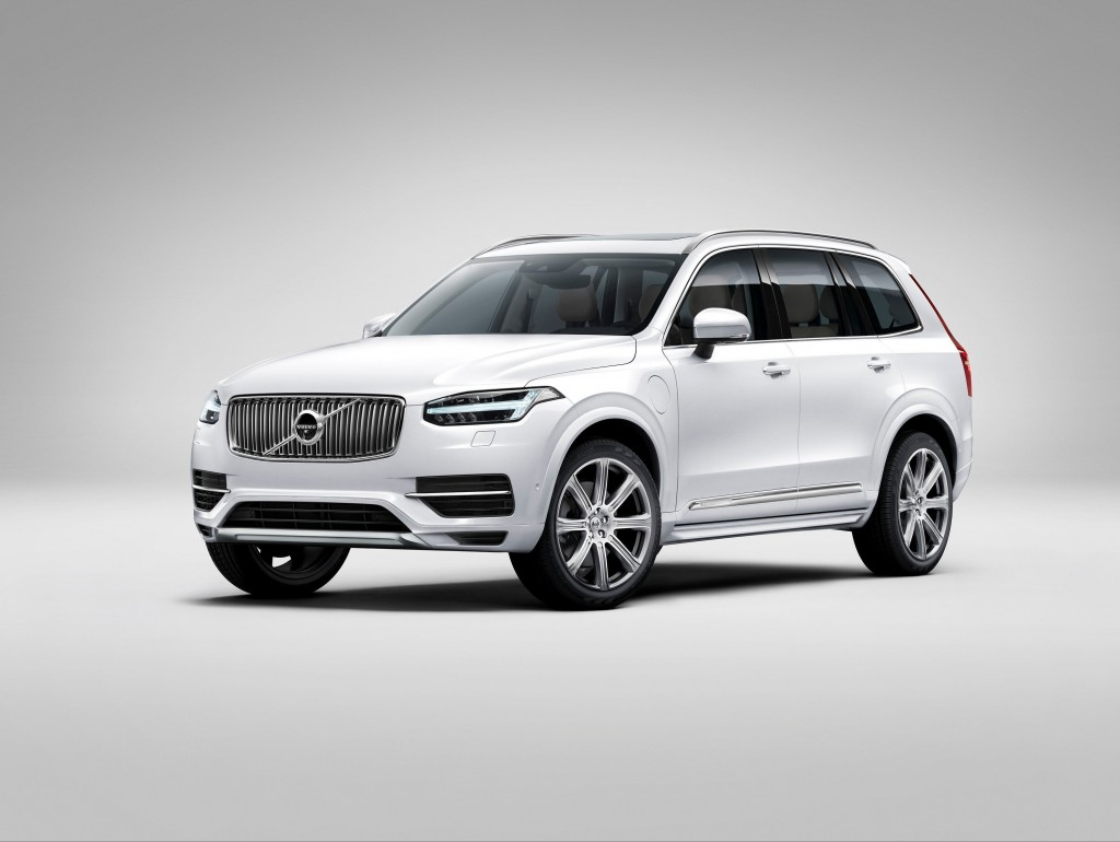 Volvo's all-new XC90 SUV will come with either a supercharged and turbocharged four-cylinder engine that makes 320 horsepower, or a 400-horsepower version that adds a plug-in electric motor. (Volvo/MCT)