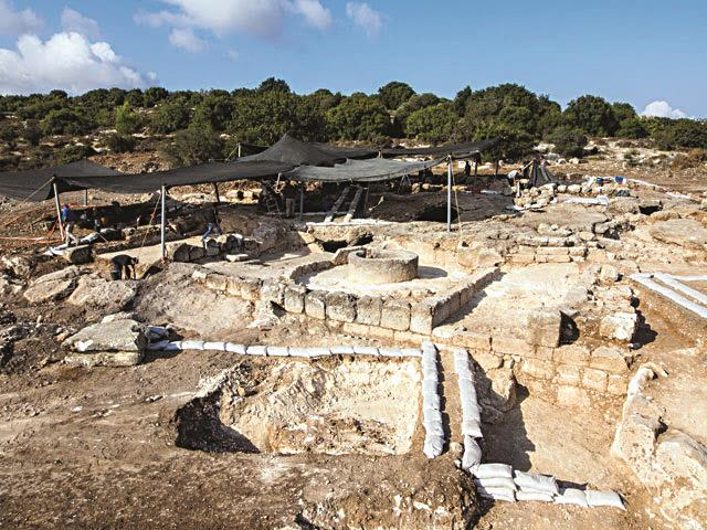 The excavation site in Bet Shemesh. (Assaf Peretz, courtesy Israel Antiquities Authority)