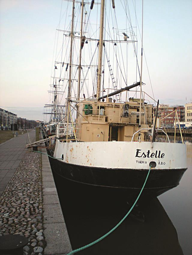 The Estelle in her home port Turku, Finland.
