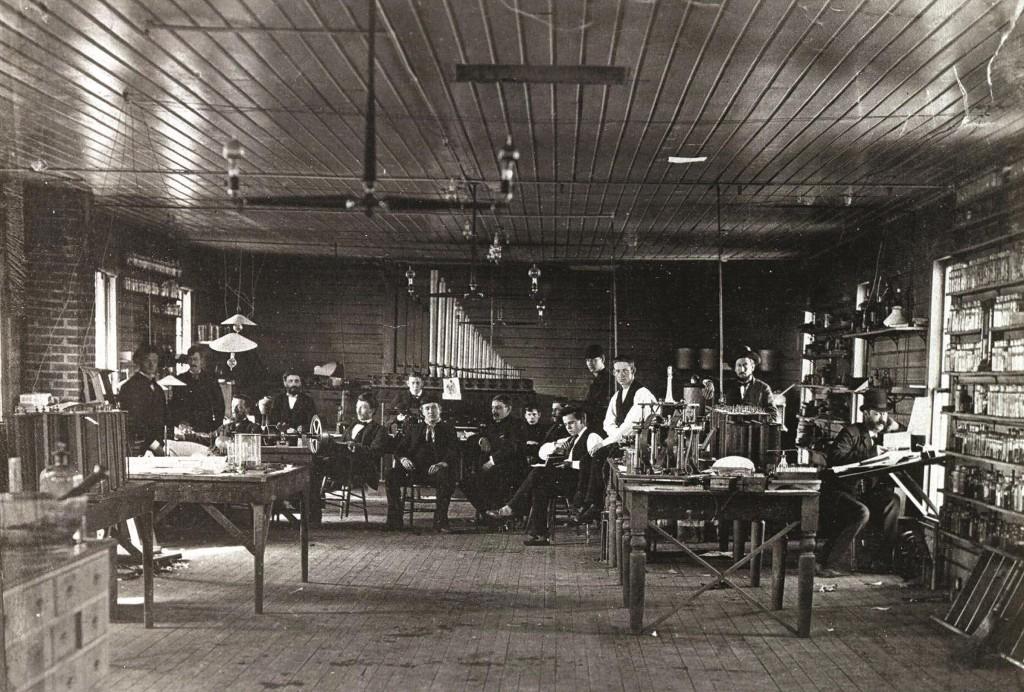 Thomas Edison's Menlo Park lab workers. (Thomas Edison Historic Park)
