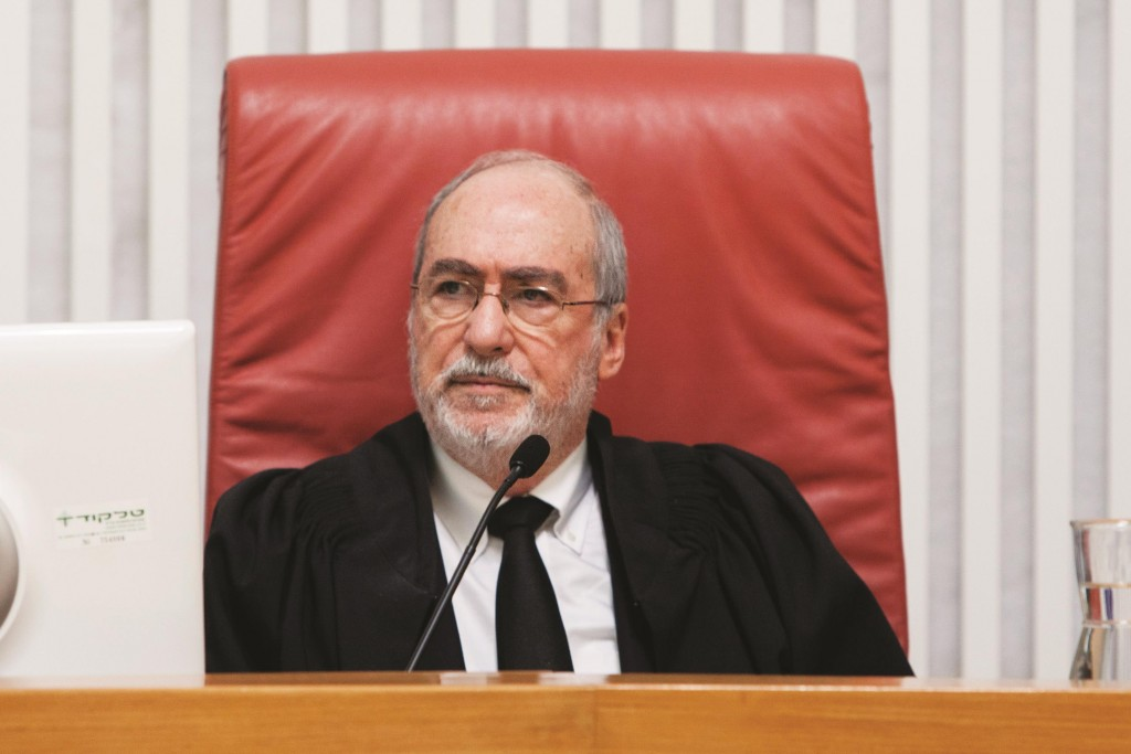 President of the High Court of Israel Asher Gronis. (Flash 90)