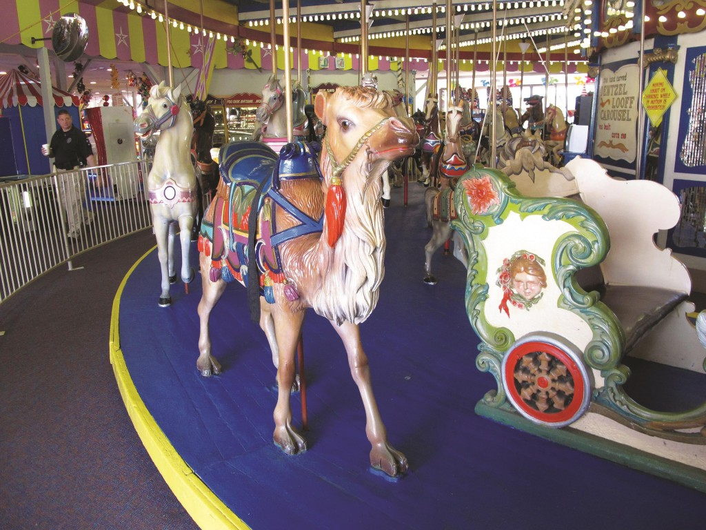 One of the 58 hand-painted animals on the Seaside Heights N.J. carousel. (AP Photo/Wayne Parry)