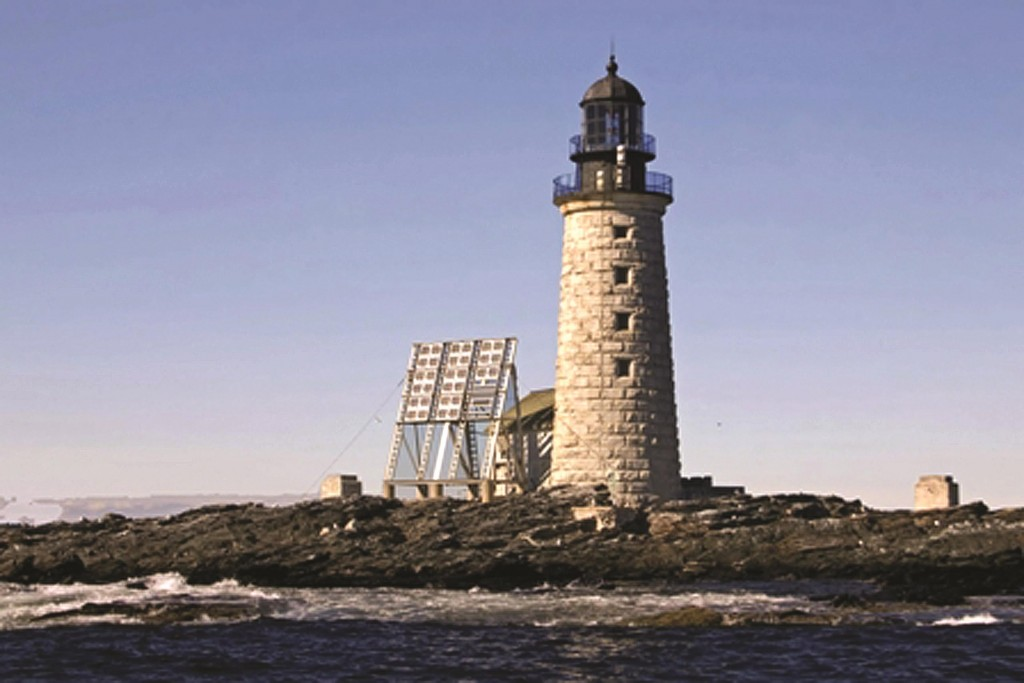 Jeremy D'Entremont The Halfway Rock Light Station on a small island in Casco Bay off Harpswell, Maine.  (AP Photo/General Services Administration)