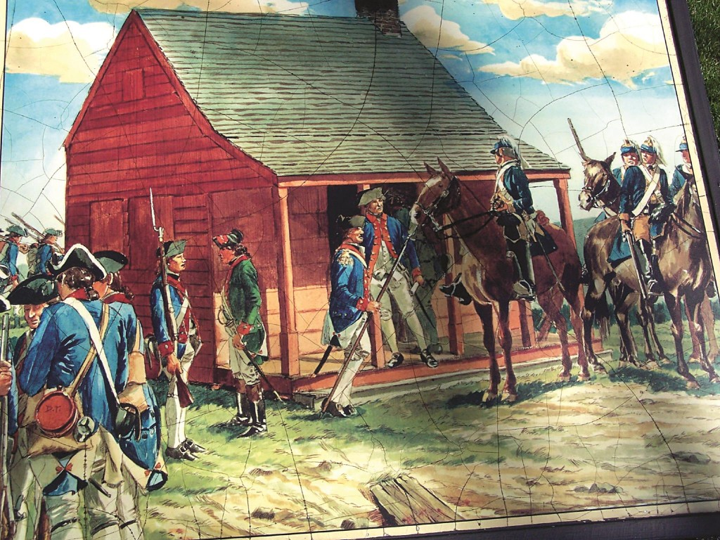 A painting of the battle for Saratoga in 1777, considered a major turning point in America's War of Independence. (Flickr)