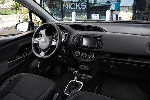 The 2015 Toyota Yaris's interior has more padded materials and new upholstery. (Toyota/MCT)