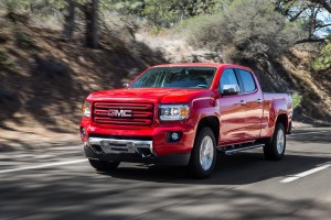 The basic GMC Canyon runs $21,880, and throws in a more masculine exterior and higher-grade materials on the interior. (GM/MCT)