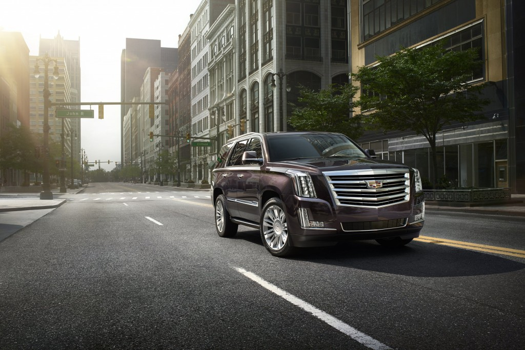 The 2015 Cadillac Escalade Platinum elevates luxury to new heights, with exquisite exterior detailing, additional Cut & Sewn interior materials and enhanced equipment. (Cadillac/MCT)